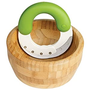 Chef'n Herb'n Shears Herb Chopper and Bamboo Bowl Set
