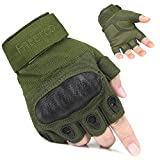 FREETOO Fingerless Tactical Gloves Hard Knuckle Military Gear