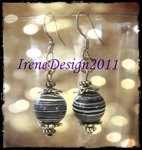Striped Gemstone Earrings