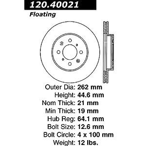 Automotive part: Centric Parts 121.40021 C-Tek Standard