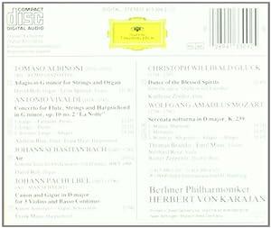 Tomaso Albinoni, Johann Pachelbel, Antonio Vivaldi, Johann