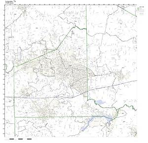 Amazon.com: Longview, TX ZIP Code Map Not Laminated: Home