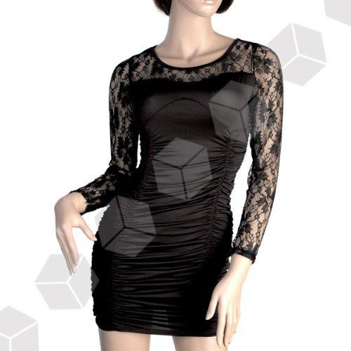 Kleid Abendkleid Minikleid Spitze schwarz M Sexy Pencil Dress