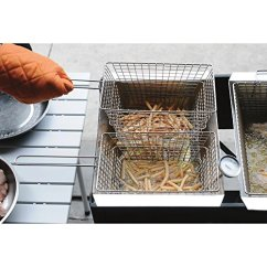 Kitchener Triple Basket Deep Fryer Whitewashed Kitchen Cabinets Small Appliance Direct