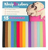 WhelpIDcollars - Puppy ID Bands - 15 Colors: Soft Fabric Velcro, Adjustable
