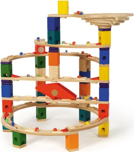 Marble Toys Blocks : Gt hape quadrilla twist and rail set piece marble