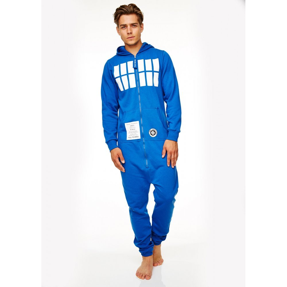 Men's Dr Who Tardis Onesie Jumpsuit