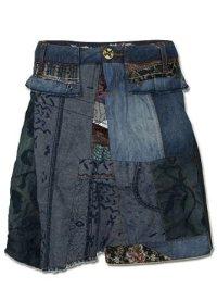 DESIGUAL Damen Designer Jeans Rock - OVNEIN-S: Amazon.de ...