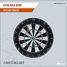 ntk dart board game with stainless steel darts