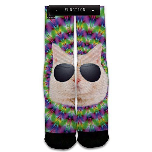 Function - Trippy Cat Printed Sock