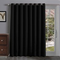 Thermal Insulated Blackout Curtains Panel Sliding Glass ...