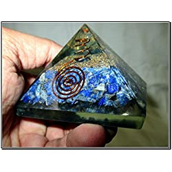 New Lapis Lazuli Chakra Orgone Pyramid Crystal Gemstones Copper Metal Mix Rare Healing Positive Energy Tetrahedron Sacred Geometry Memory Concentration Meditation Spiritual Psychic Piezo Electric Effect Business Prosperity Success Destress Anxiety Disorder Love Power Mental Peace Strength Divine X-mas Mother's Day Father's Day Thanks Giving Birthday Anniversary Thinking of You Sorry Hug Get Well Soon Husband Wife Grand Father Children Pregnant Ladies New Born Babies Memory Motivation Inspiration Dream Reality Imagination Pagan Wicca Om Mantra Holy Pious Auspicious India Asia Negative Ion Enhancer Electromagnetic Waves Positive Frequency Valentine Celebration Event Function Office Opening Altar Worship Idol God Lord Sir Students Concentration