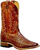 Boulet Men's Barnwood 3-Piece Caiman Belly Boot Square Toe Barnwood US