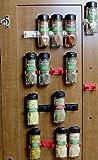DecoBros 30 Spice Gripper Clips Strips Cabinet Holder - Set of 6, Holds for 30 Spice Jars