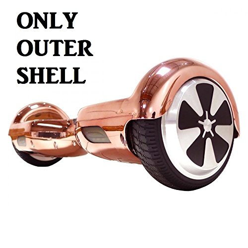 Segmart 6.5 '' Two Wheel Metallic Color Hoverboard Electric Self Balancing Chrome Scooter Outer Shell Cover Case Casing Replacement DIY (Champagne Gold)