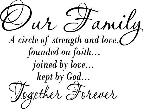 Download Our Family a Circle of Strength and Love Wall Vinyl ...
