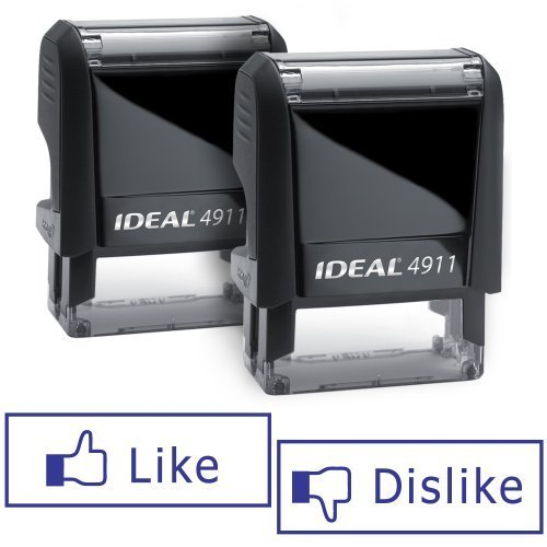 LIKE/DISLIKE Facebook Rubber Stamps