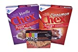 Gluten Free Chex Cereals Vanilla and Cinnamon & Kind Healty Grains Bundle (Pack of 3)