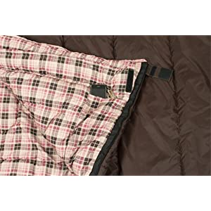 TETON Sports Celsius Regular -18-Degree C / -0-Degree F for Women Sleeping Bag, Right Zip, Brown/Pink