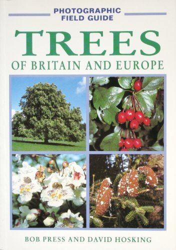 Cover of the 'Trees of Britain and Europe' novel showing different plants in Europe.