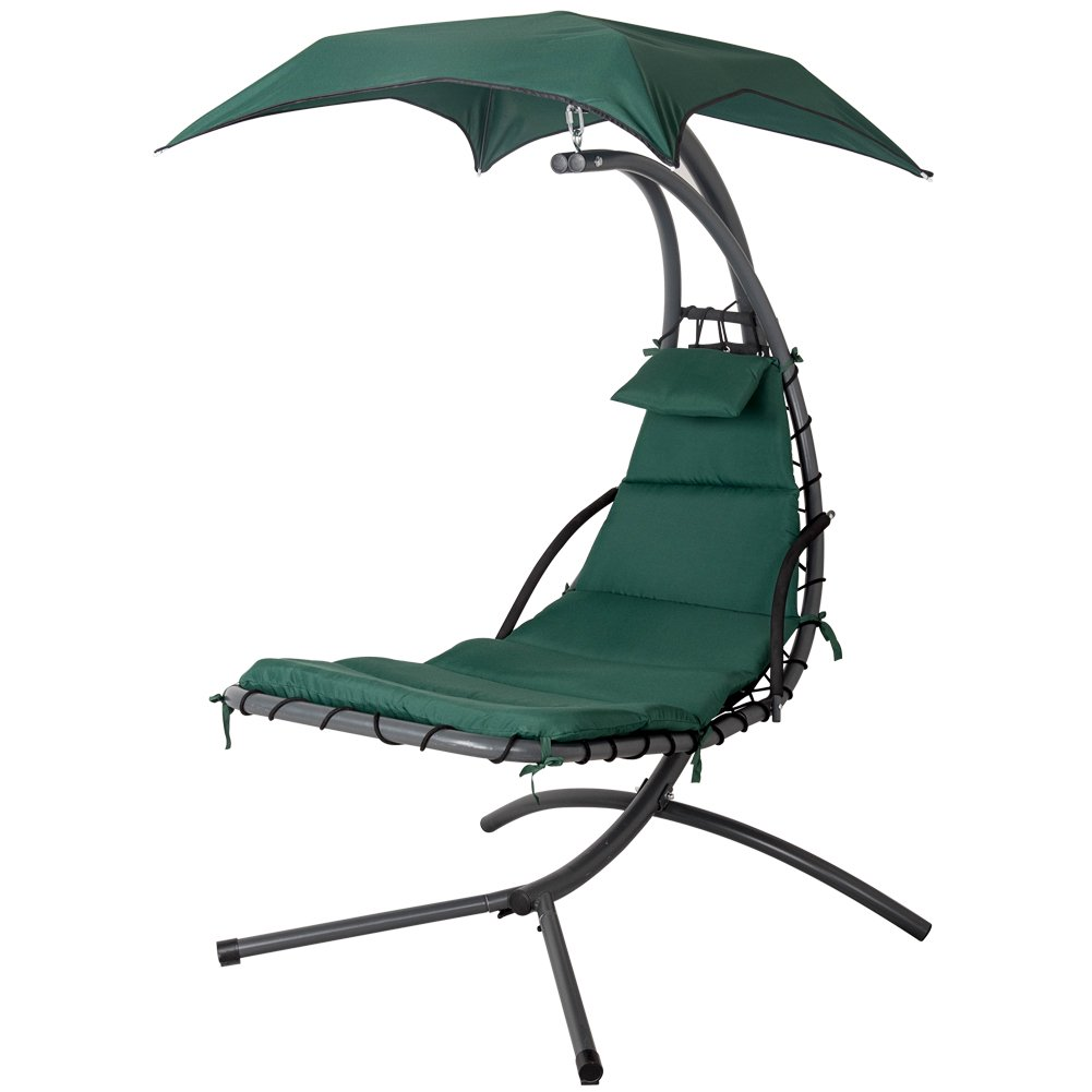 outdoor dream chair queen anne side chairs cherry lazy daze hammocks with umbrella hanging chaise lounge arc curved hammock dark green
