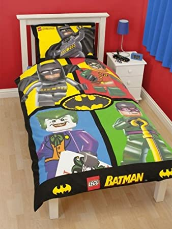 Lego Batman 'Cards' Panel Single Bed Duvet Quilt Cover Set