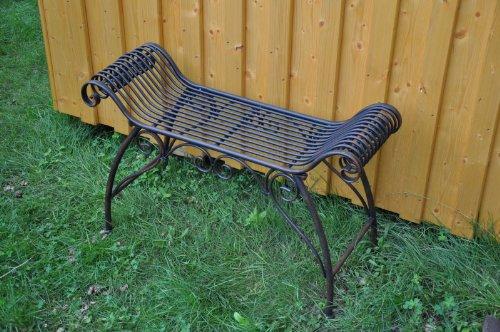 Sitzbank Spacio, Breite 89 cm , braun, verziert