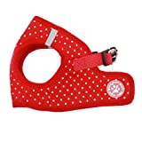 BINGPET BB5004 Polka Dot Soft Vest Dog Puppy Pet Harness Adjustable - Red