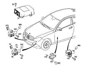 Amazon.com: Mercedes w163 r170 w203 Sensor Lateral