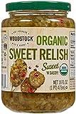 Woodstock Farms Organic Relish - Sweet - 16 Ounces