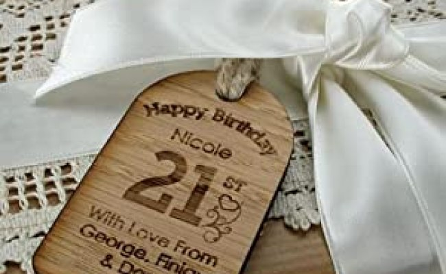 21st Birthday Gift For Her 21st Bottle Tag Personalised