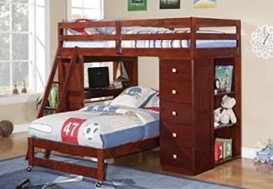 Bearrific Loft Drawer And Desk Bunk Bed Contemporary Loft