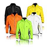 WOLFBIKE Tour de France Cycling Jacket Jersey Sportswear Water-Resistant Running Biking Jacket Long Sleeve Wind Coat Breathable Quick Dry, Available 5 Colors - Black White Green Orange Yellow