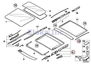 Amazon.com: BMW Genuine Front & Rear Sunroof Repair Kit