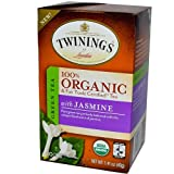 Twinings Organic Tea, Green Jasmine, 20 Count Bagged Tea