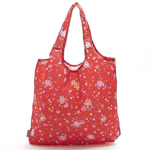 キャスキッドソン バッグ ショッピングバッグ CATH KIDSTON Foldaway shopper 532464 BRAMLEY SPRIG/RED/レッド(フラワー柄) 並行輸入品