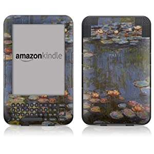 """DecalGirl Kindle Skin (Fits 6"""" Display, Latest Generation Kindle) Monet - Water lilies (Matte Finish)"""