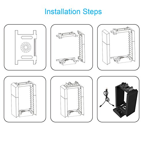 Kootek PS4 Vertical Stand Cooling Fan for PS4