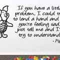 Winnie the pooh piglet if you have a little problem baby nursery
