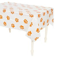"Puppy Dog Paw Print Plastic Table Cover - 54"" x 72"" New 