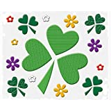 Happy St. Patricks Day Decorations: Reusable Window Gel Clings, 12 x 12