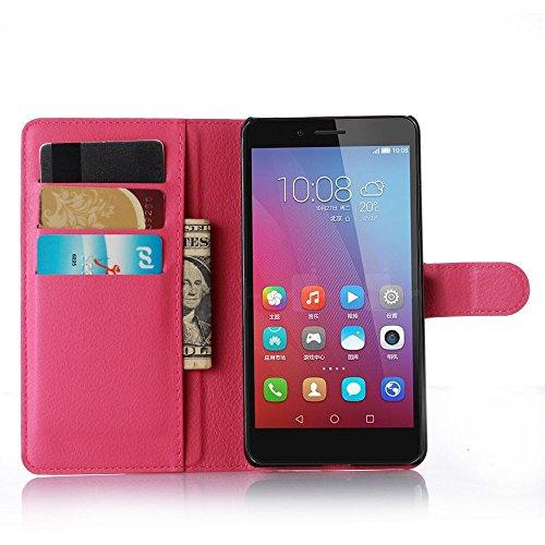 Pink Huawei GR5 / Honor 5X 手帳 型 ケース スタンド 機能 PU 合皮 レザー 革 スマホ ケース 保護 カバー スリム 軽量 MarsTech ファーウェイ GR5 / Honor 5X 5.5 インチ 用ケース