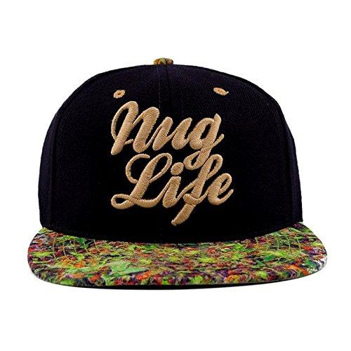 iHeartRaves Nuglife Weed Leaf Snapback Rave Hat