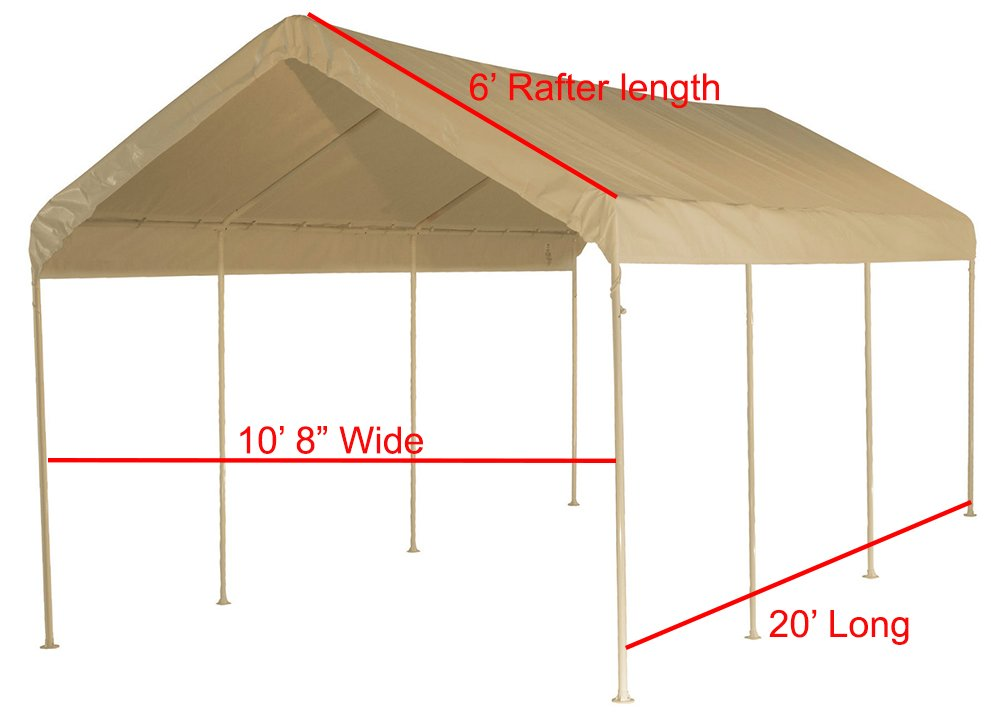 12 X 20 Heavy Duty 12mil Valance Replacement Canopy Tarp Carport Cover Tan New Auctions Buy