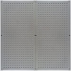 Bullet Board Metal Pegboard, Galvanized (2 Per Box