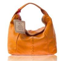 italian handbags: Sofia C. Italian Designer Orange Leather ...