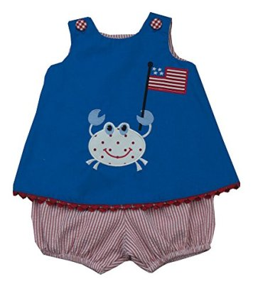 Mulberry-Street-4th-of-JulyGator-Popover-Set-Baby-Girls-Size-24M