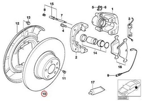 [해외]BMW Zimerman 리어 브레이크 디스크 로터 E38 E31 740 840 850 840Ci