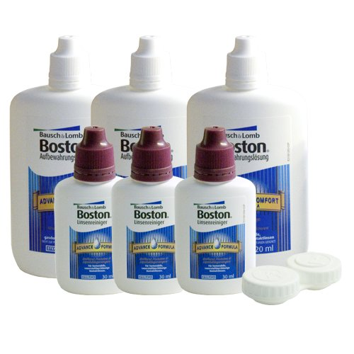 Boston Advance Formula Multipack, 3 x 120ml Pflegemiitel für harte Kontaktlinsen