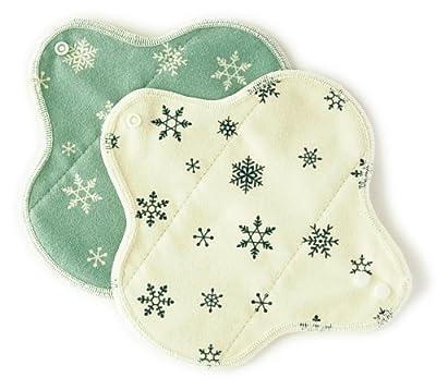 ヘブンリームーン おりもの用 布ナプキン【布ライナー(オーガニックコットンニット使用)雪の結晶柄2色セット】